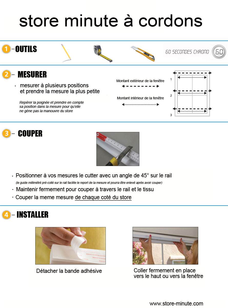 store tissu pliss cordon sans percer tamisant beige. Black Bedroom Furniture Sets. Home Design Ideas