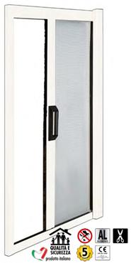kit moustiquaire rouleau retractable pour portes profil. Black Bedroom Furniture Sets. Home Design Ideas