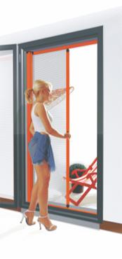 Kit moustiquaire rouleau retractable pour portes profil aluminium ouverture lat rale - Moustiquaire sur mesure enroulable ...