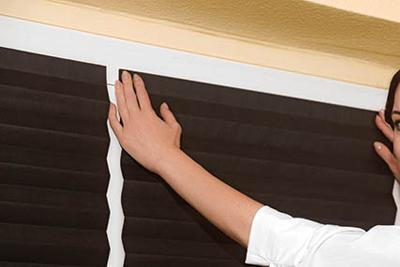 stores pliss s sans percer fixation adh sive largeur. Black Bedroom Furniture Sets. Home Design Ideas