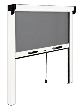 store enrouleur ext rieur aluminium retractable screen filtrant 160 x 160 cm. Black Bedroom Furniture Sets. Home Design Ideas