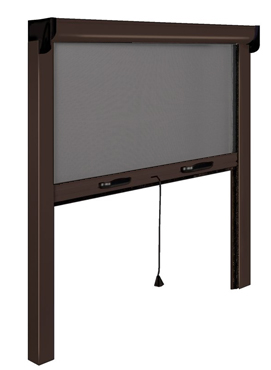 store enrouleur ext rieur aluminium retractable screen filtrant 80 x 160 cm. Black Bedroom Furniture Sets. Home Design Ideas