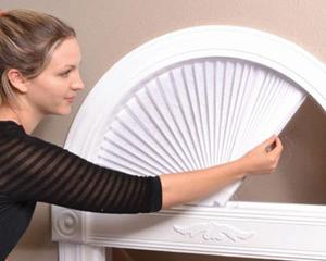 Store Papier Pour Fenetre Cintrée En Forme Darche Tamisant Blanc